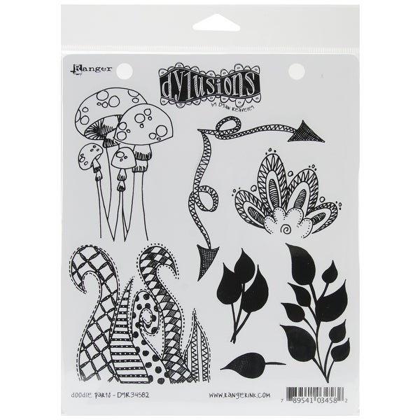 "Dyan Reaveley's Dylusions Cling Stamp Collections 8.5""X7""-Doodle Parts"