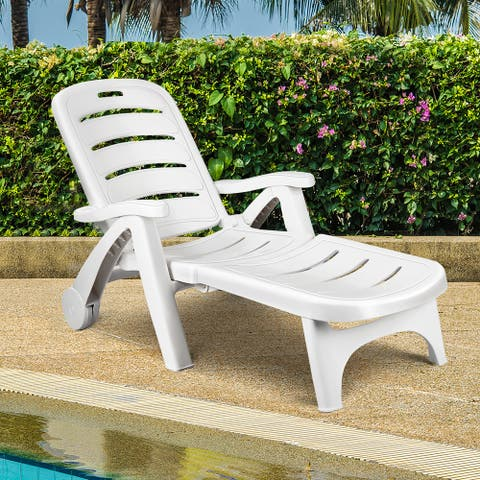 Folding Lounger Chaise Chair Outdoor Patio Deck Chair
