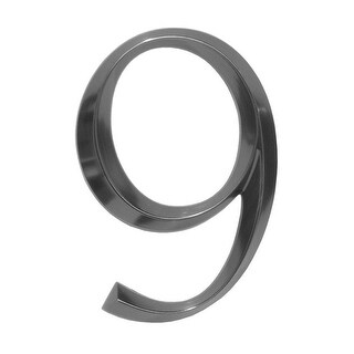 """Whitehall 6"""" Classic Standalone Polished Nickel Number 9 (Metallic Silver)"""