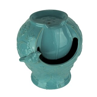Classic Glossy Turquoise Blue Ceramic Indoor / Outdoor Fountain