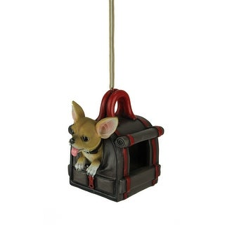 Traveler's Treat Chihuahua Dog In Carrier Hanging Bird Feeder - 6.5 X 6 X 5.25 inches