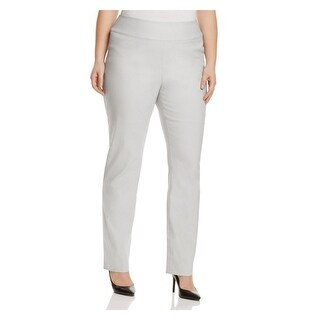 Nic + Zoe Womens Plus Dress Pants Wonderstretch Slim Fit