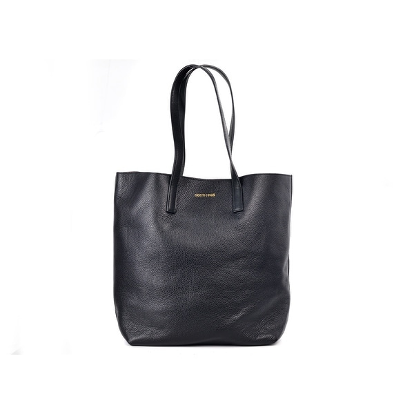 fcd30a300 Roberto Cavalli Women's Black Leather Black Shoulder Tote Bag~RTL$1050
