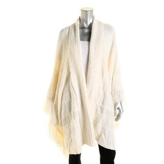Lauren Ralph Lauren Womens Wool Blend Open Front Poncho Sweater - o/s