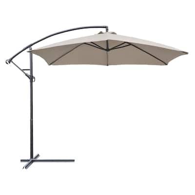 Homall Patio Umbrellas Offset Umbrella Cantilever Umbrella Hanging Market Umbrella with Crank and Cross for Backyard and Beach