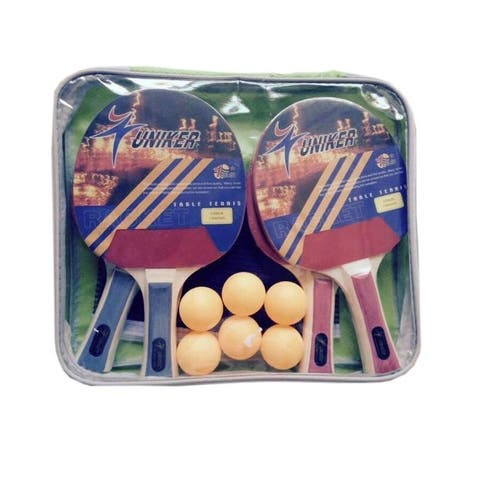 Recreational Table Tennis Net, Paddles and Balls Game Set - Multi - N/A