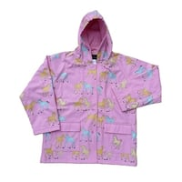 Little Girls Pink Pony Rain Coat 2T-6