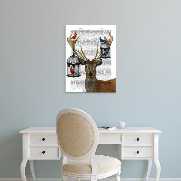 Easy Art Prints Fab Funky's 'Deer & Bird Cages' Premium Canvas Art