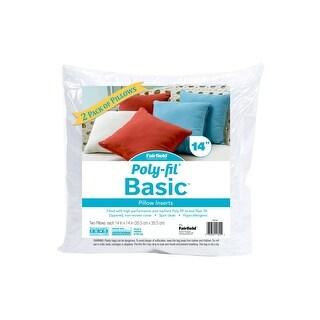 Fairfield Poly Fil Basic Pillow Insert 14x14 2pc
