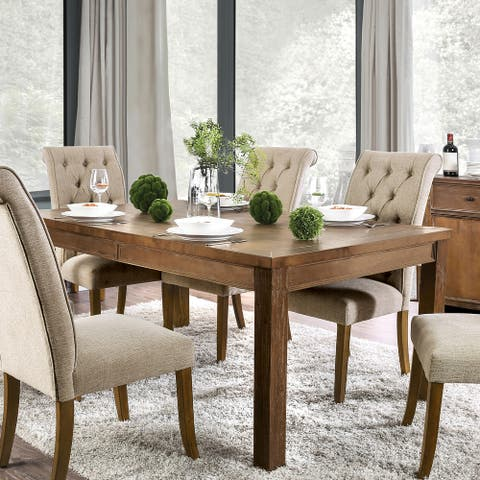 Furniture of America Kizi Rustic 72-inch Solid Wood Dining Table