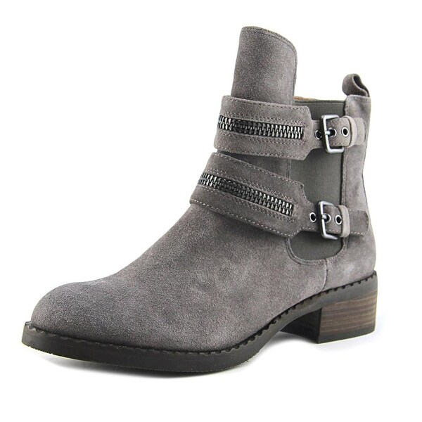 Gentle Souls Barberton Women Round Toe Suede Gray Ankle Boot