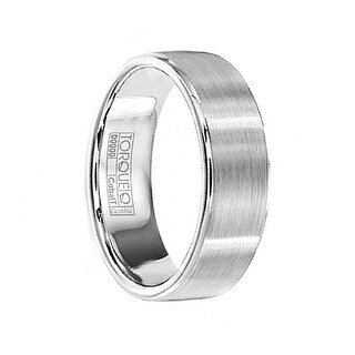 JAX Brushed Comfort-Fit Cobalt Wedding Band with Polished Edges by Crown Ring - 7mm