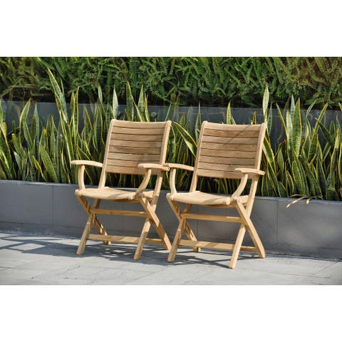 Tottenville Teak Armchairs (Set of 2) by Havenside Home - 2 Piece