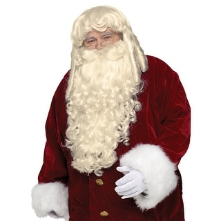 Super Deluxe Santa Claus Wig and Beard Set Adult Costume Accessory