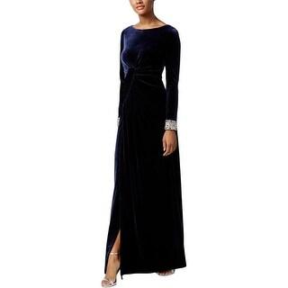 Vince Camuto Womens Evening Dress Velvet Beaded - 6
