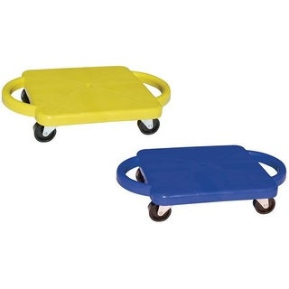 Champion Sports 12-Inch Scooter Boards (2-Pack - Blue & Yellow)