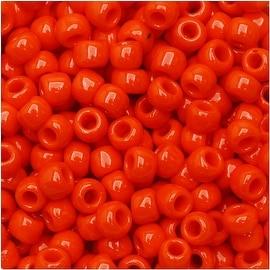Toho Round Seed Beads 6/0 50 'Opaque Sunset Orange' 8 Gram Tube