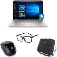 "HP Envy 15 Core i7-7500U 256GB SSD+1TB HDD 15.6"" 4K IPS Touch WLED Laptop Bundle"