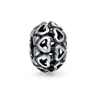 Bling Jewelry 925 Silver Synthetic Opal Filigree Butterfly Charm Bead QZtw5f9M8Z