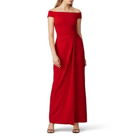 RALPH LAUREN Womens Red Sleeveless Maxi Sheath Evening Dress Size 8