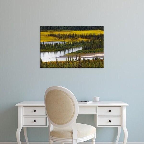 Easy Art Prints Michel Hersen's 'Nenana River In Autumn' Premium Canvas Art