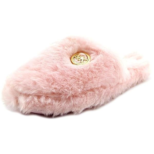Michael Michael Kors Jet Set Mk Fur Women Round Toe Synthetic Slipper