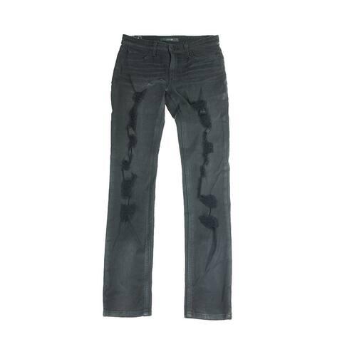 Joes Black Shredded Slim Boyfriend Skinny Jeans