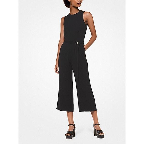 09ffdd1775e2 Shop Michael Kors Black Women s Size XS Cady Belted Cropped Jumpsuit ...