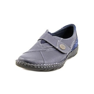 Earth Origins Evelyn Women Round Toe Leather Blue Loafer