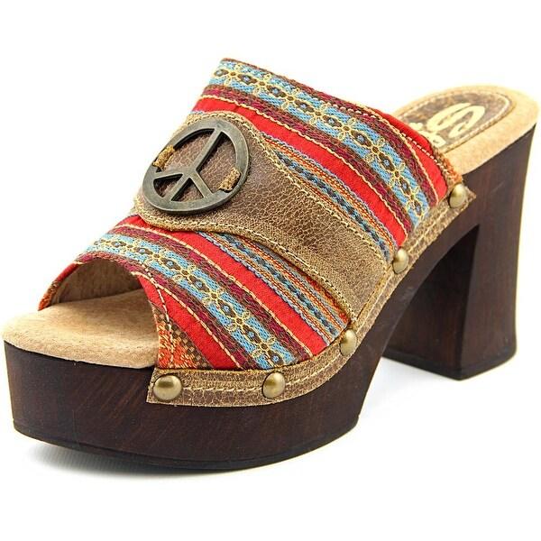 Sbicca Zoya Women Open Toe Synthetic Multi Color Platform Sandal