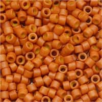 Miyuki Delica Seed Beads 11/0 Dyed Opaque Pumpkin DB653 7.2 Grams