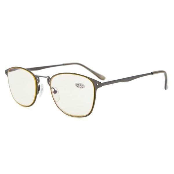 afa0d0122359 Eyekepper Readers Quality Spring-hinge Retro Computer Reading Glasses  (Yellow Lens, +2.50