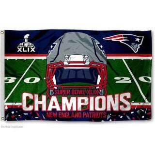 NFL New England Patriots Super Bowl 49 Champions Banner Flag