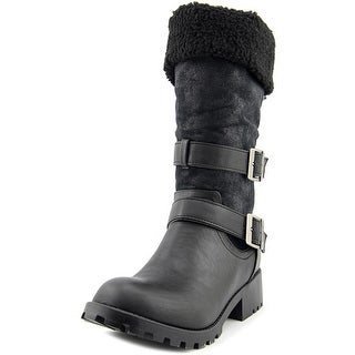 Dirty Laundry Trailblazer Women Round Toe Synthetic Black Mid Calf Boot