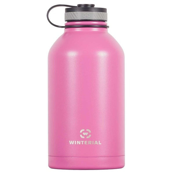 Winterial 64 oz Insulated Growler / Beer Growler / Pink
