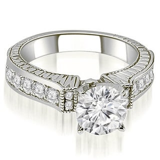 1.30 CT.TW Antique Round Cut Diamond Engagement Ring - White H-I