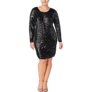 Love & Legend Womens Cocktail Dress Sequined Knee-Length