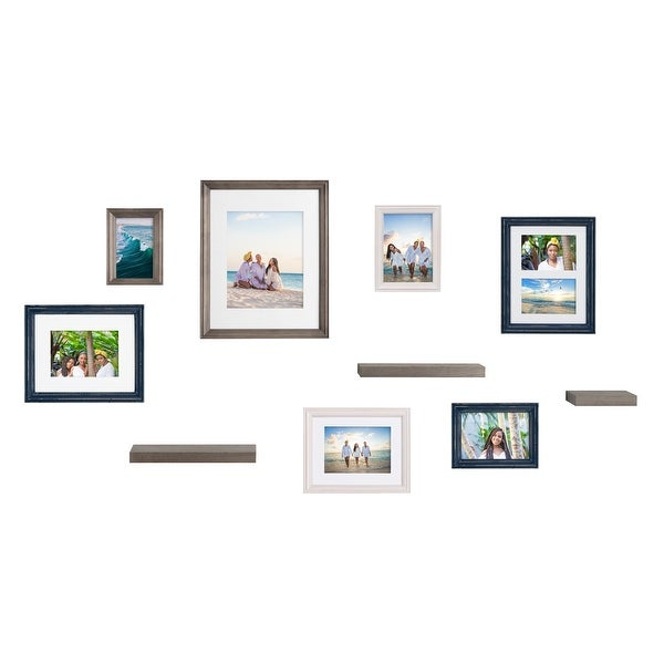 Kate and Laurel Bordeaux Gallery Wall Frame And Shelf Kit. Opens flyout.