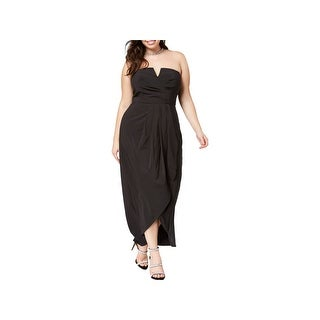City Chic Womens Plus Party Dress Strapless Pleated - XxL
