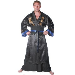Underwraps Samurai Warrior Male Adult Costume (Black) - Solid - Standard