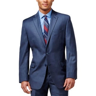 Calvin Klein Mens Two-Button Suit Jacket Wool Slim Fit