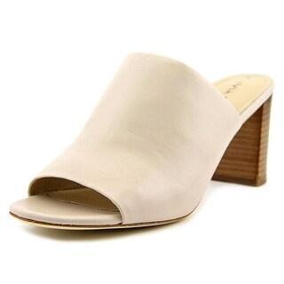 Via Spiga Wynola Women Open-Toe Leather Gray Mules