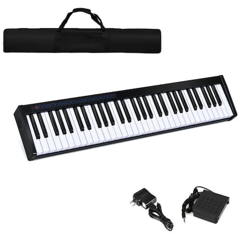 61-Key Portable Digital Stage Piano with Carrying Bag