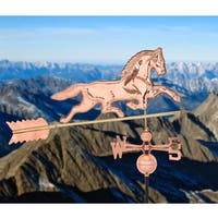 Gymax Full-Size Outdoor Horse Weathervane Polished Copper Roof Mounted - Polished Copper