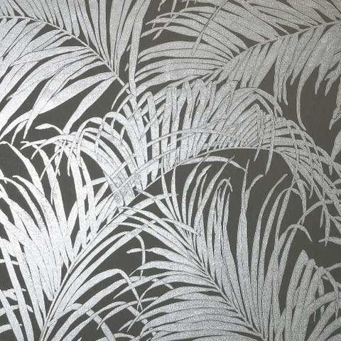 Arthouse Palm Leaf Kiss-Foil Unpasted Non-Woven Wallpaper