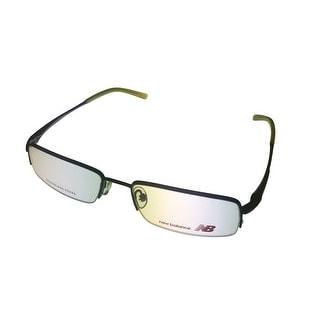 New Balance Mens Opthalmic Eyeglass Rimless Matel Frame 402 3 Matte Navy - Medium