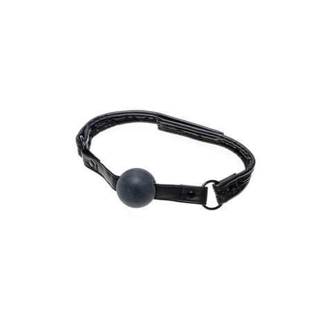 Quilted Ball Gag, Black Ball Gag - One Size Fits most