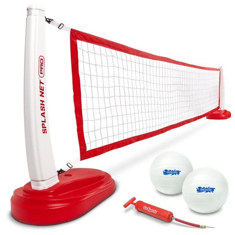 Splash Net PRO Pool Volleyball Net Includes Water Volleyballs and Pump