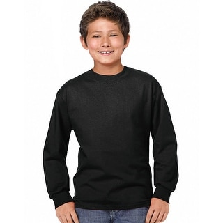 Hanes Youth ComfortSoft TAGLESS Long-Sleeve T-Shirt