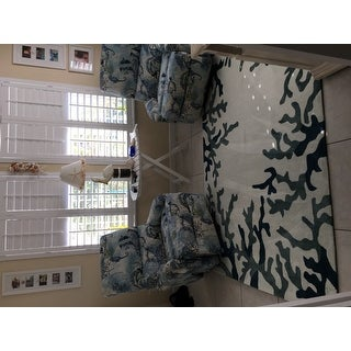 Addison Beaches Coral Reef Navy/Ivory Area Rug (5' x 7'6)